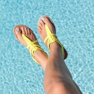 Neon Yellow Thong Sandals
